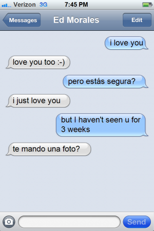 Ed Morales text message