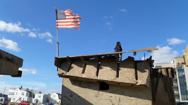 Flag boardwalk