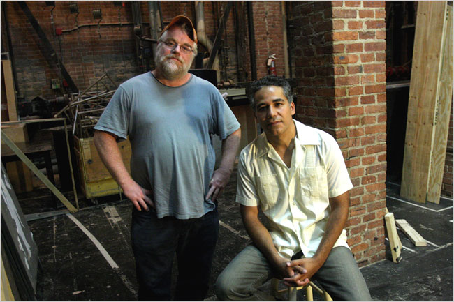 Phillip Seymour Hoffman and John Ortiz