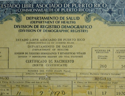 Photo ID Laws The Real Reason For Invalidating PR Birth Certificates?