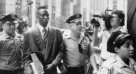 Yusef Salaam at courthouse