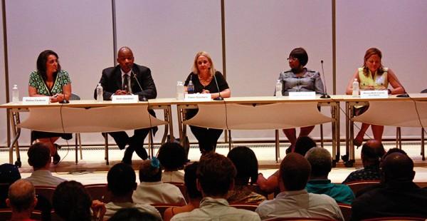 Candidates at City Council Forum credit: Marina Ortiz