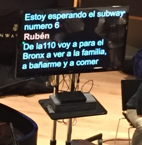 teleprompter at Rubén Blades rehearsal