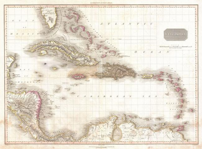 1024px-1818_Pinkerton_Map_of_the_West_Indies,_Antilles,_and_Caribbean_Sea_-_Geographicus_-_WestIndies2-pinkerton-1818_3